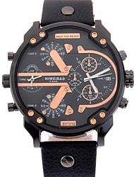 Men's Teen Sport Watch Dress Watch Fashion Watch Bracelet Watch Casual Watch Quartz Calendar Dual Time Zones Large Dial PunkGenuine