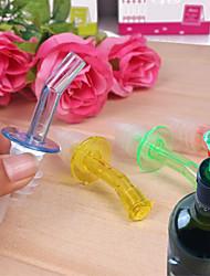 4pcs freies Mehrfarbenfluss Flasche Ausgießer Stopper Ausgießer Likörwein Cocktail