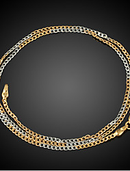 FX Exquisite Necklace 18K Real Gold/Platinum Plated Fashion Jewelry  Pendant Necklace 50CM