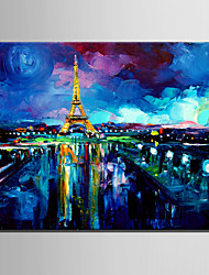 Mini Size E-HOME Oil painting Modern Eiffel Tower Pure Hand Draw Frameless Decorative Painting