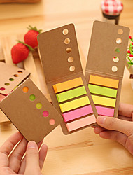 1PC Fashion Contracted Cowhide Post-It Notes Candy Color Post-It N Time Put A Sticky Note Pad