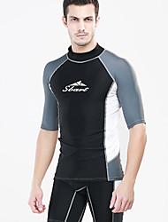 Femme Homme Combinaison de plongée Résistant aux ultraviolets Chinlon Tenue de plongée Manches longuesTee-shirts anti-UV, tops thermiques