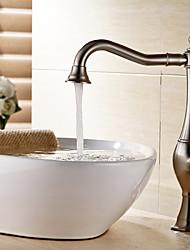 Vessel Single Handle One Hole in Nickel Brushed Bathroom Sink Faucet