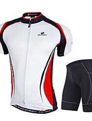 Nuckily Cycling Jersey with Shorts Men's Short Sleeves Bike Clothing Suits Windproof Anatomic Design Moisture Permeability Front Zipper