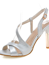 Women's Shoes Stiletto Heel Sling back/Open Toe Sandals Office & Career/Party & Evening/Dress Silver/Gold