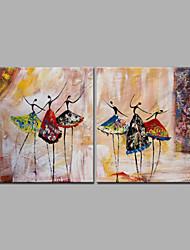 2 Panel Abstract Dancing Girl Good Quality Oil Painting Acrylic Painting on Canvas Framed