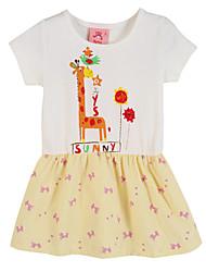 Girl's Pink Dress,Print Cotton Summer / Spring