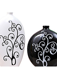 Modern Ceramic Craft Ornaments for Home Decoration 2pcs/set(Random Color)