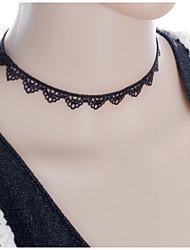 Femme Collier court /Ras-du-cou Torque et rigide Bijoux gothique Tattoo Choker Dentelle Tissu Tatouage Mode Noir Bijoux PourMariage