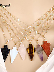 D Exceed 2016 Fashion Best Selling High Good Assorted Natural Stone Triangle Charms Pendants Fit Necklace