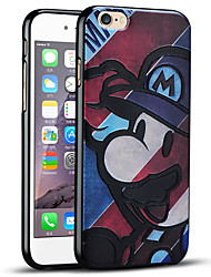 bande dessinée mignonne de protection couverture arrière étui souple ultra mince pour iphone 6s / iphone 6