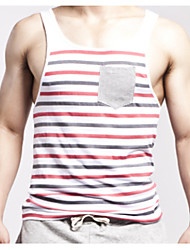 Striped Cotton Vest Vest Fitness