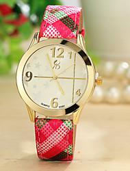Xu™ Ladies' Fashion Vintage Pattern Textile Cloth Quartz Watch Cool Watches Unique Watches
