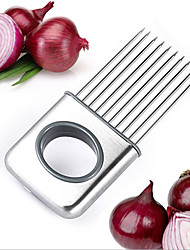 Stainless Steel Onion Holder Slicer Vegetable Tools Tomato Cutter Meat Hamstring Fork