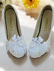Белый-Свадебная обувь-Женский-На каблуках-Обувь на каблуках-Свадьба