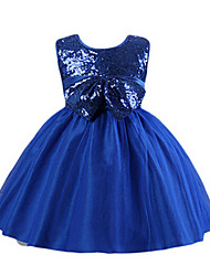 Girl's Dress,Acrylic Summer / Spring Blue / Red