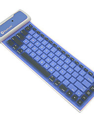 bluetooth waterdichte opvouwbare siliconen soft keyboard voor iOS / androids / Windows-systeem