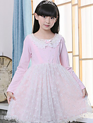 Girl's Spring Long Sleeve Dresses(More Color)