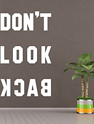 AYA™ DIY Wall Stickers Wall Decals, Don't Look Back English Words & Quotes PVC Wall Stickers