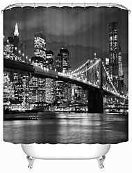 "Modern Bridge Polyester Shower Curtains W71""×L71"""