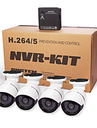 cotier®4ch kits nvr p2p nube nvr 720p / 960p / 1080p / H.264 / impermeable / hd / bala ip cámara N4B-mini