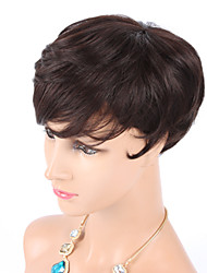 "6"" Fashion Women Machine Made 100% Human Hair Wig Wave Curly Glueless Wig For Black Women"