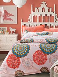 4PC Duvet Cover Set Cotton Floral Pattern Queen Size