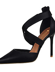 Women's Shoes Leatherette Stiletto Heel Heels Heels Casual Black / Pink / Red / White / Gray / Burgundy