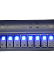 2016 nova chegada 12v motocicleta automóvel luz indicadora azul oito switches