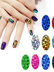 -Finger / Zehe-Andere Dekorationen-PVC-1pcs glass starry nail stickersStück -4cm*7cm each piececm