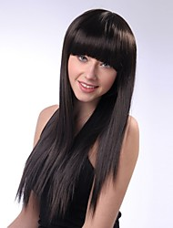 Popular! Top Quality Black Color Long Straight Synthetic Wigs