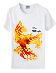 Flaming Light Cotton Lycra Men's T-shirt/World of Warcraft Wow Series Heroes T-Shirt/Fire Phoenix 1Pc