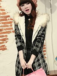 Damen Standard Pullover-Lässig/Alltäglich Street Schick Geometrisch Rosa / Rot / Weiß / Schwarz / Gelb Mit Kapuze LangarmBaumwolle /