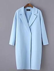 Blazer Aux femmes Long Manches Longues Grandes Tailles Polyester