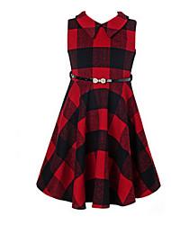Vestido Chica de-Primavera / Otoño-Lana-Rojo