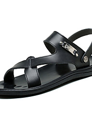 Men's Shoes Outdoor / Office & Career / Work & Duty / Athletic / Dress / Casual Nappa Leather Sandals Black / White