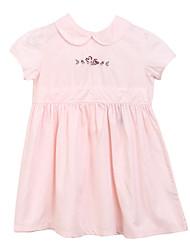 Girl's Pink Dress,Print Cotton Summer