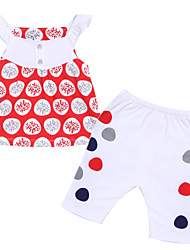Girl's Clothing Set,Cotton Summer Red