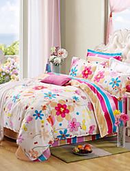Beautiful sets 100% Cotton Bedclothes 4pcs Bedding Set Queen Size Duvet Cover Set