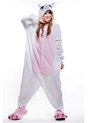Kigurumi Pijamas nueva Cosplay® Gato Leotardo/Pijama Mono Festival/Celebración Ropa de Noche de los Animales Halloween Blanco RetazosLana
