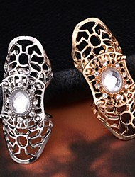 Fashionable Woman Personality Gold Silver Set Auger Hollow Ring