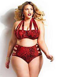 Damen Bikinis - Einheitliche Farbe Push-Up Polyester Halfter