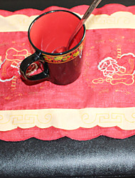 100%polyester Santa Claus Pattern  Multi-Purpose  Table Cloths With   Size 28X43cm(11X17 inch)
