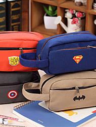 Hero Pen Bag Of Double Zipper Pen Bag Lovely Canvas Large Capacity Pen Bag