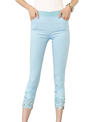 Women's Patchwork Blue / Pink / White / Black / Yellow Skinny Pants,Work / Casual / Day