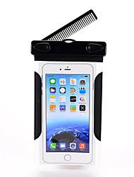 sac étanche cas cas pochette de téléphone pour iphone 6s / 6s plus / 5s 5 4s samsung galaxy s6 / s6 bord / s7 / s7 bord avec un peigne