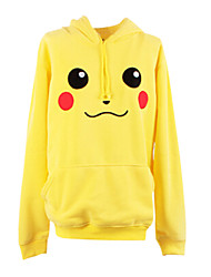 Inspirado por Pocket Monster Pequeno monstro Anime Fantasias de Cosplay Hoodies cosplay Estampado Amarelo Manga Comprida Casaco