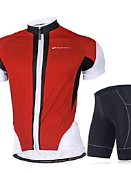 NUCKILY Bike/Cycling Jersey + Pants/Jersey+Tights / Clothing Sets/Suits Men's Short SleeveBreathable / Ultraviolet Resistant / Moisture