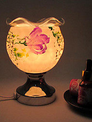 2016 New Ceramic Rose Induction Aromatherapy Lamp LED Night Light for Kids Room Home Decoration