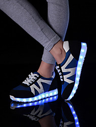 Da donna Da uomoTempo libero Casual Sportivo-Light Up Shoes-Piatto-Finta pelle-Nero Blu Bianco